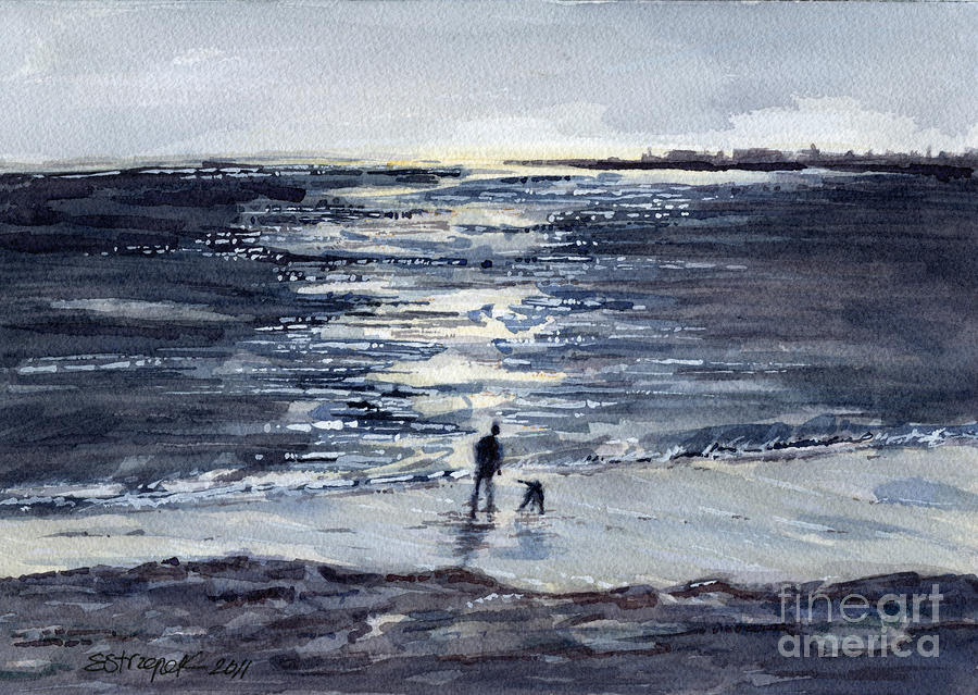 Walking Away The Day Painting  - Walking Away The Day Fine Art Print