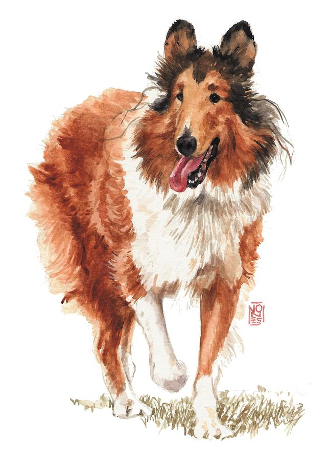 Walking Collie Painting  - Walking Collie Fine Art Print