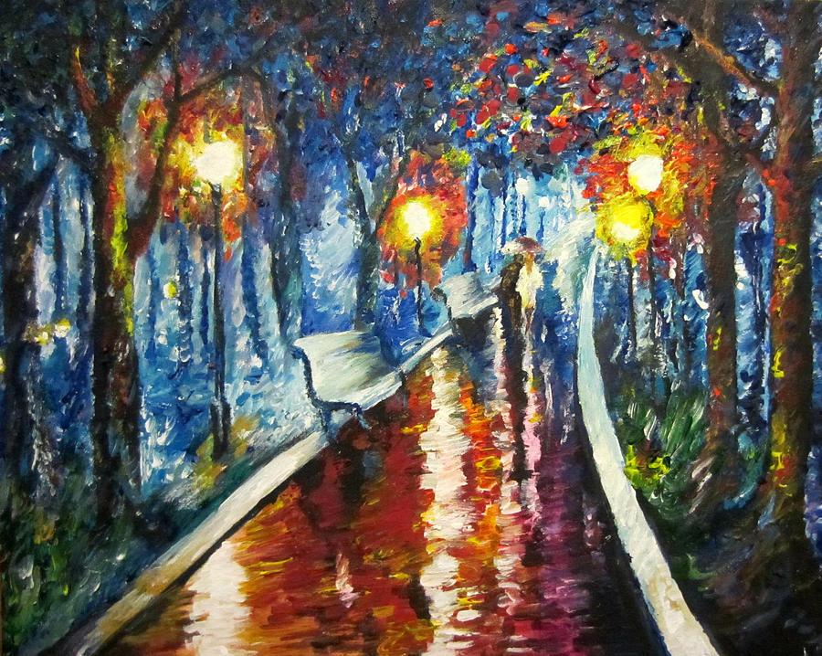 Walking Couple In Love Giselle Rivas