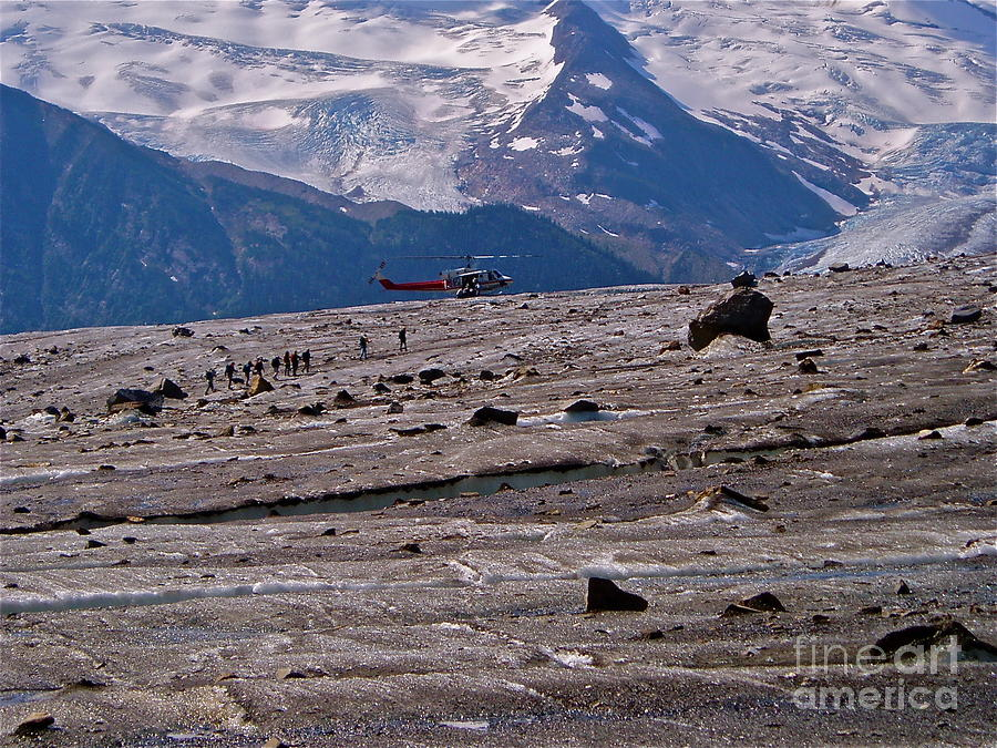 Walking The Glacier Photograph  - Walking The Glacier Fine Art Print