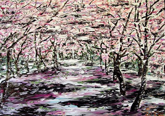 Walking Through The Sakura Garden By Yana Lopushok