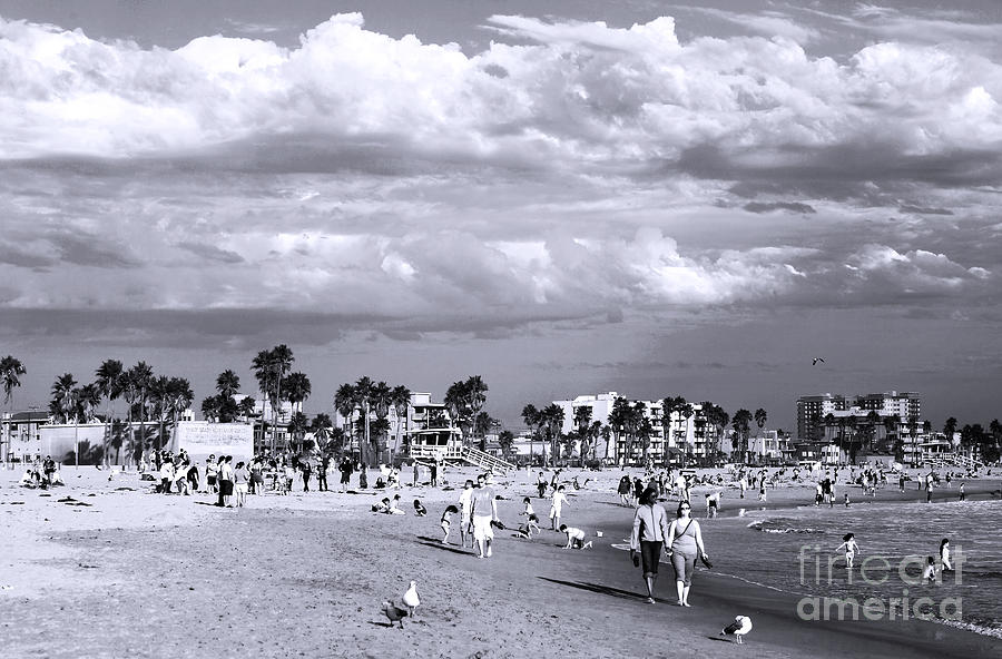 Walking Venice Beach Photograph  - Walking Venice Beach Fine Art Print
