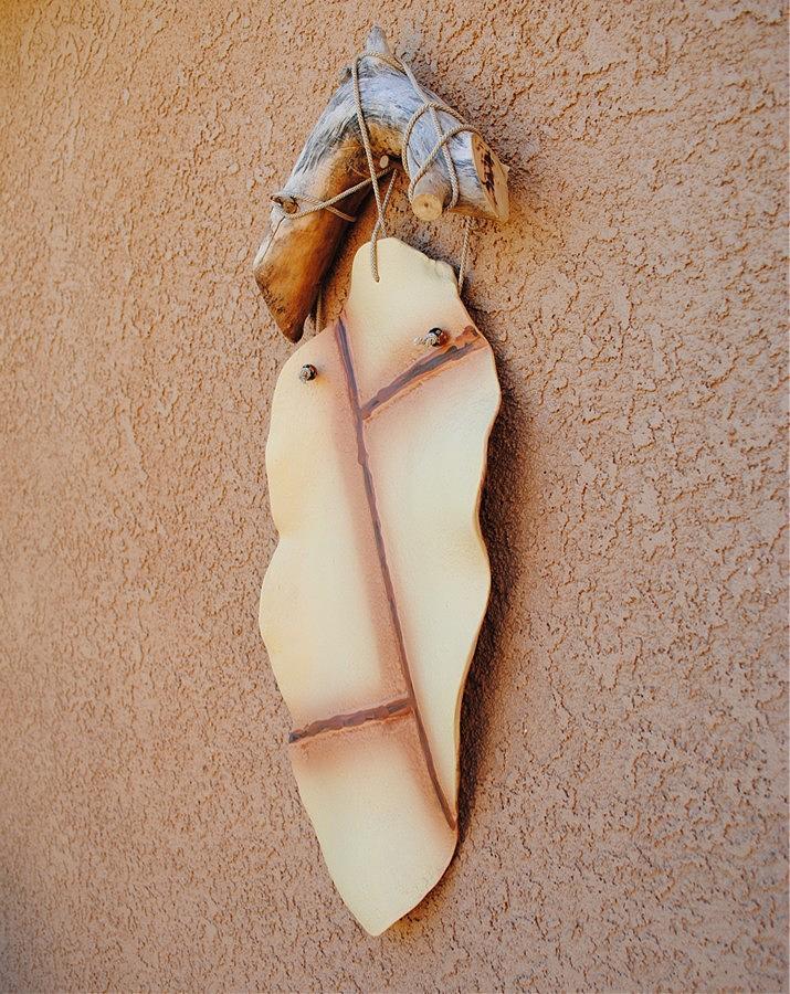 Wall Hanging Leaf Ceramic Art