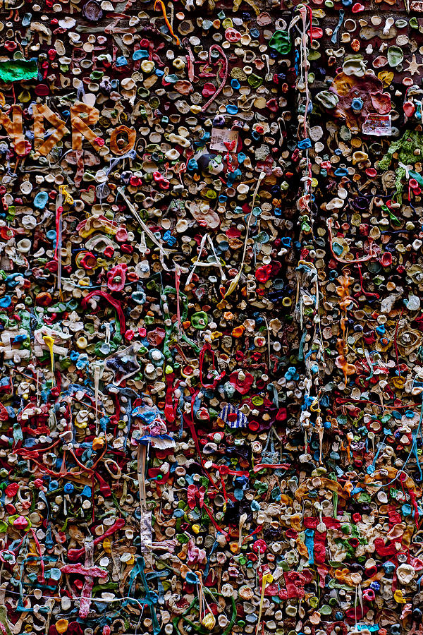 Chewing Gum Photograph - Wall Of Gum by Garry Gay