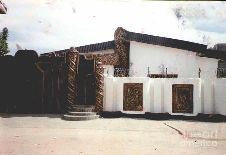 African Culture Sculpture Sculpture - Wall Relief Sculpture by David Omotosho