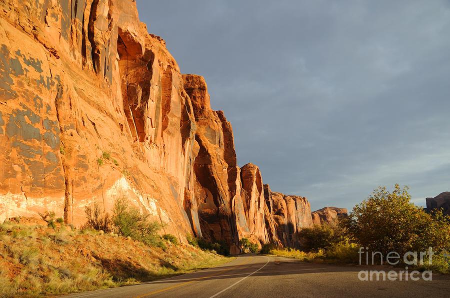 Wall Street Cliff Near Moab Photograph