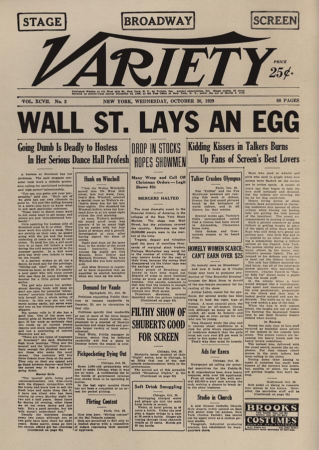 Wall Street Lays An Egg. Famous Photograph  - Wall Street Lays An Egg. Famous Fine Art Print