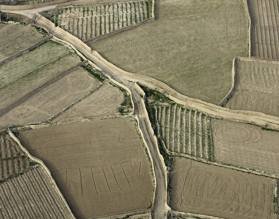 Walled Fields Near Bagram Photograph
