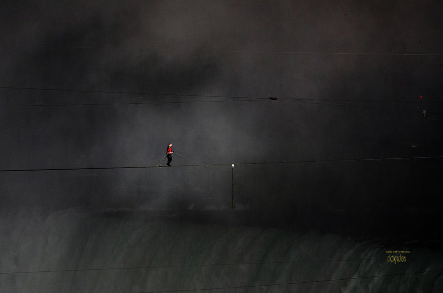 Wallenda Water And Wind Walk Niagara Falls Photograph