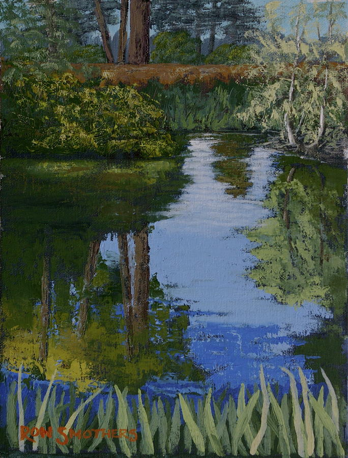 Waller Park Pond Painting  - Waller Park Pond Fine Art Print
