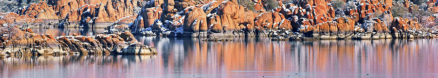 Walls Of Watson Lake Panorama Photograph  - Walls Of Watson Lake Panorama Fine Art Print