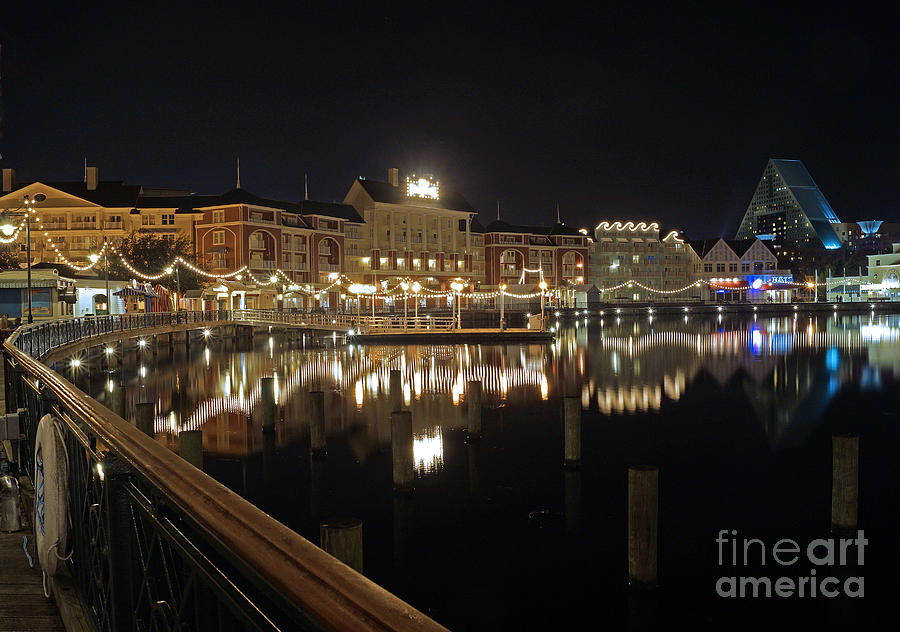 Walt Disney World - Boardwalk Villas  Pyrography  - Walt Disney World - Boardwalk Villas  Fine Art Print