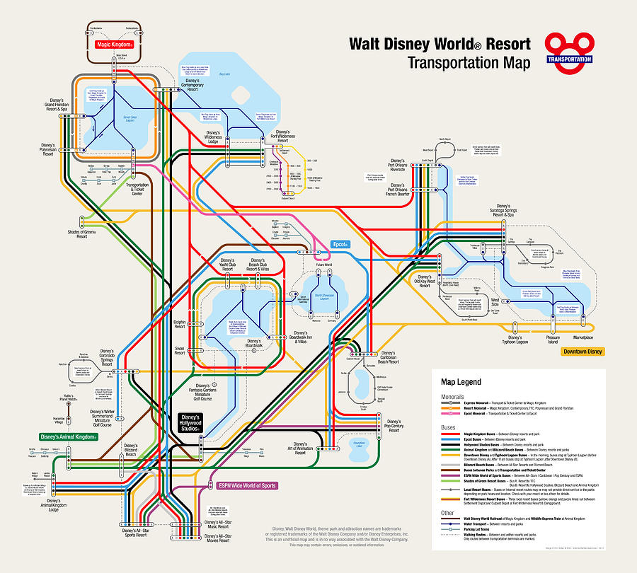 Walt disney world resort maps pdf comwalt disney world resort transportation map digital art walt disney world gumiabroncs Choice Image