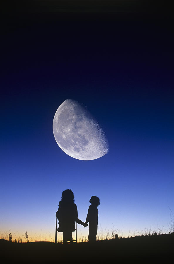 Waning Gibbous Moon Photograph