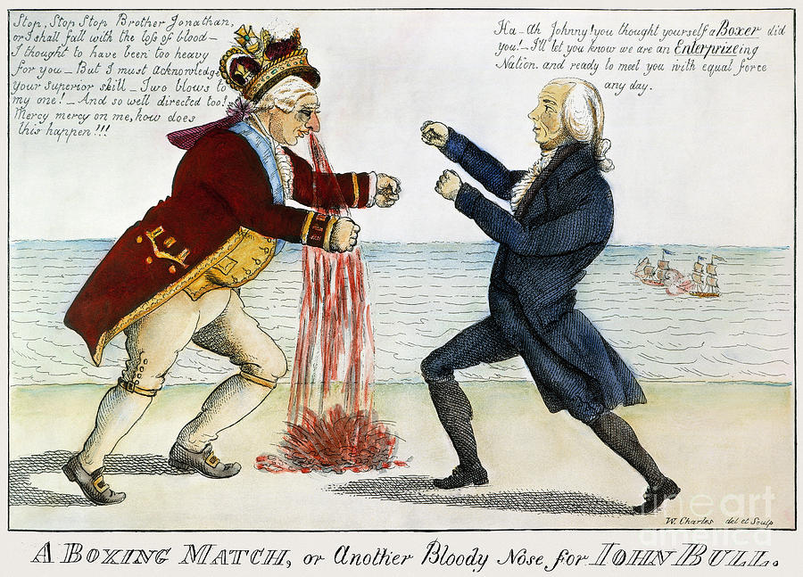 War Of 1812: Cartoon, 1813 Photograph