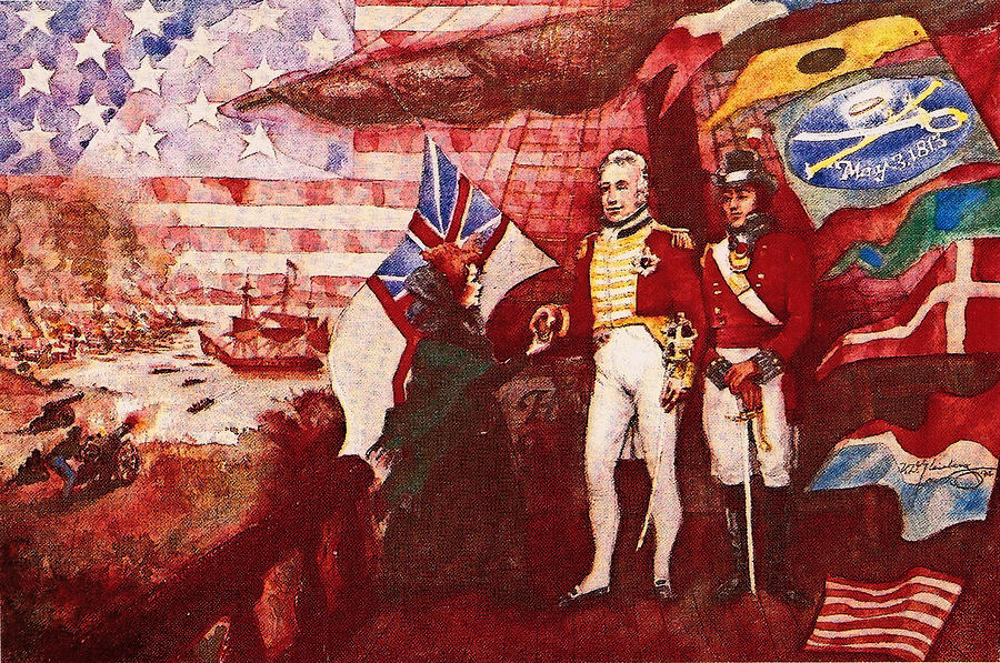 War Of 1812 Mixed Media  - War Of 1812 Fine Art Print