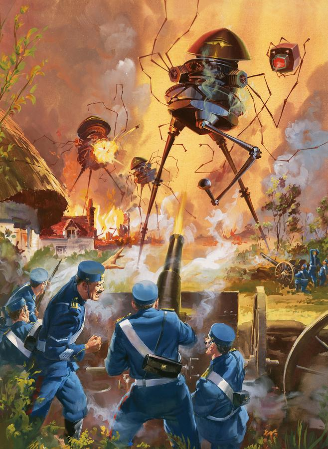 War Of The Worlds Painting  - War Of The Worlds Fine Art Print