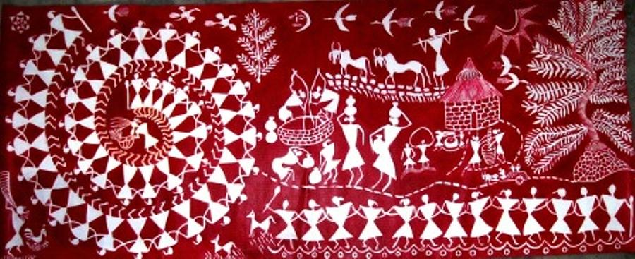 Warli Art And Painting ... Painting - Warli by Maneesh  Kumar