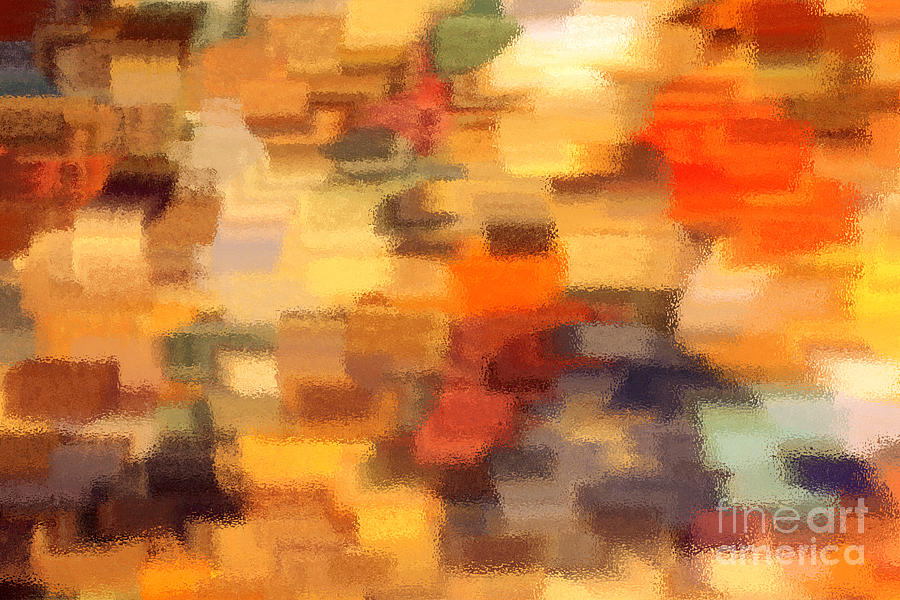 Warm Colors Under Glass - Abstract Art Photograph