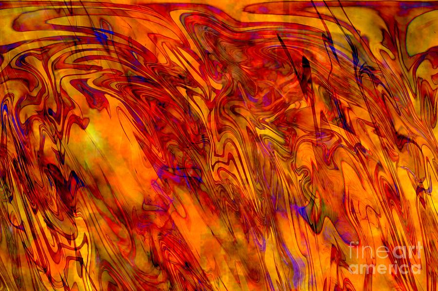 Warmth And Charm - Abstract Art Digital Art  - Warmth And Charm - Abstract Art Fine Art Print