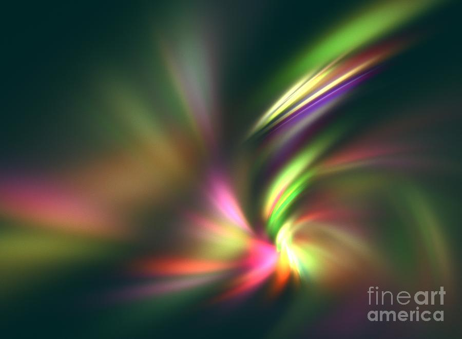 Warp Speed Digital Art  - Warp Speed Fine Art Print