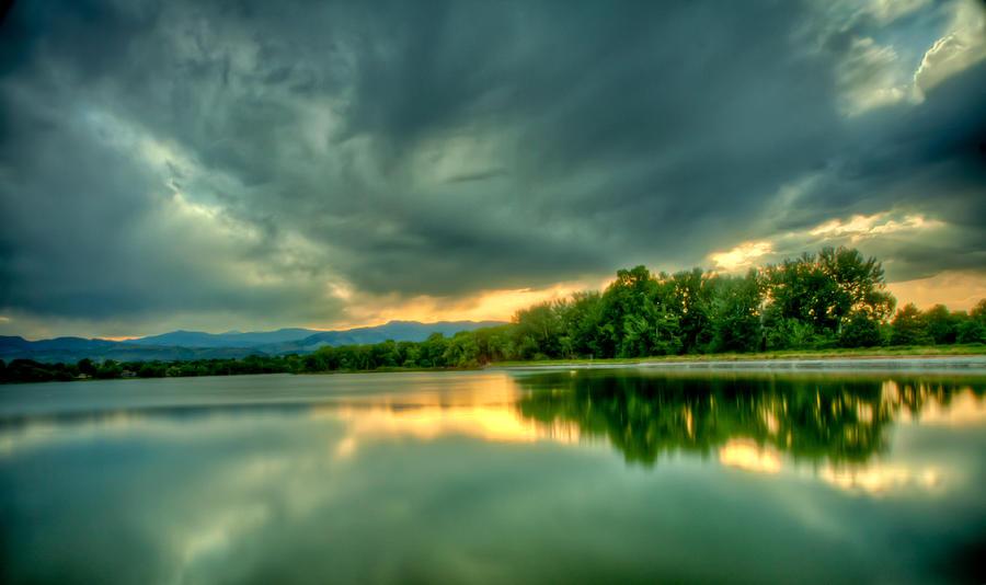 Warren Lake At Sunset Photograph
