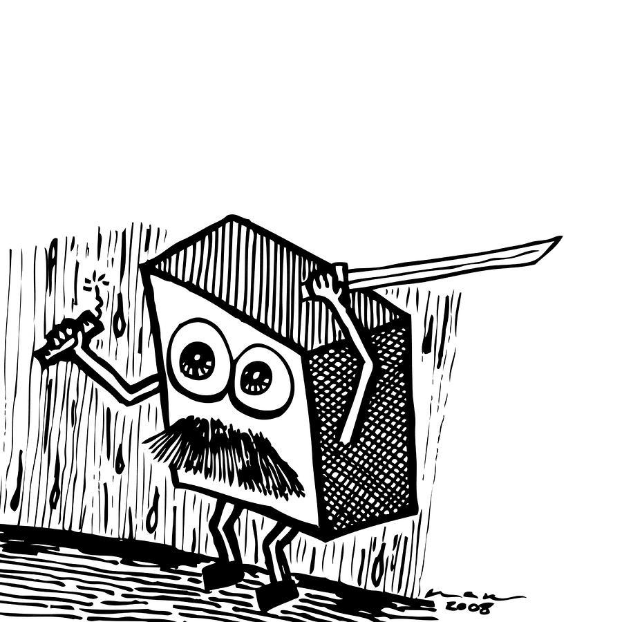 Warrior Box Drawing