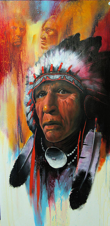 Warrior Chief Painting