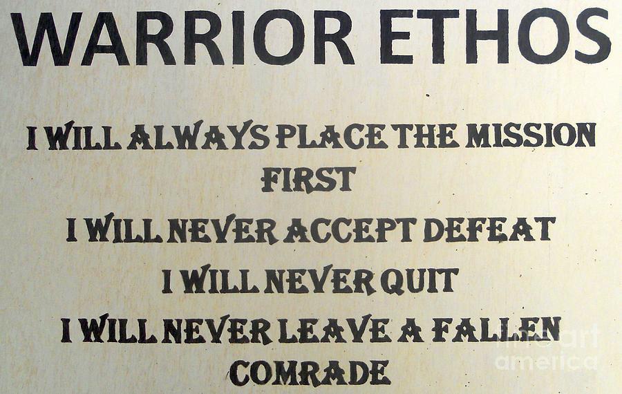 essay on the warrior ethos