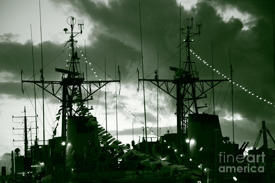 Warships At Twilight Photograph