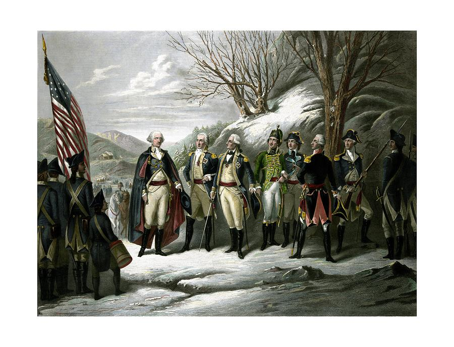 Washington And His Generals  Painting  - Washington And His Generals  Fine Art Print