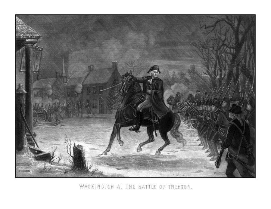 Washington At The Battle Of Trenton Painting  - Washington At The Battle Of Trenton Fine Art Print
