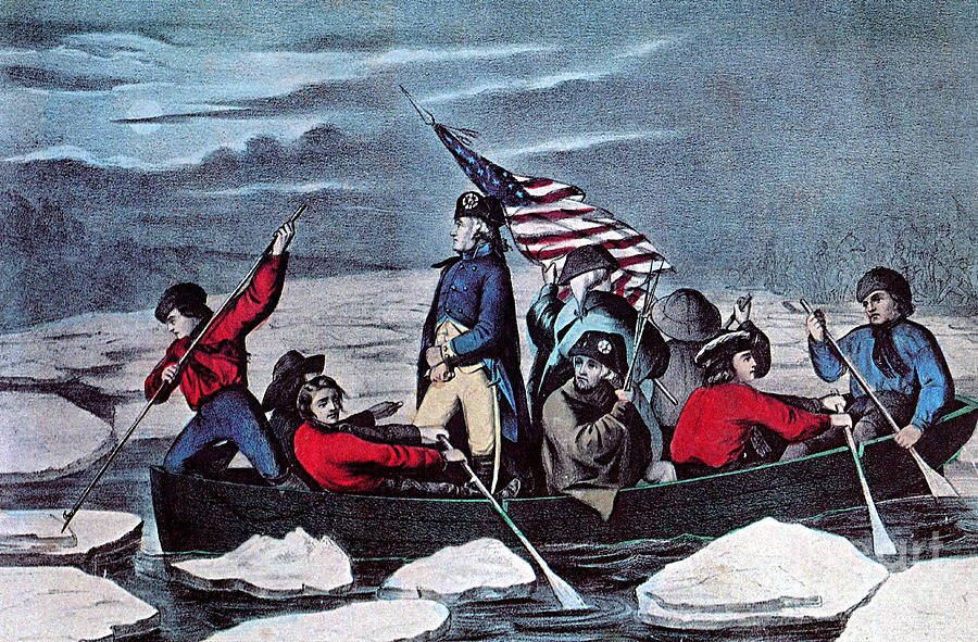Washington Crossing The Delaware, 1776 Photograph  - Washington Crossing The Delaware, 1776 Fine Art Print