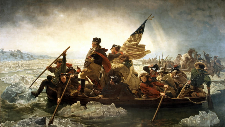 Washington Crossing The Delaware Painting  - Washington Crossing The Delaware Fine Art Print
