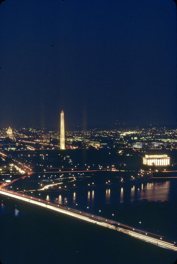 Washington D.c. At Night, Seen Photograph  - Washington D.c. At Night, Seen Fine Art Print