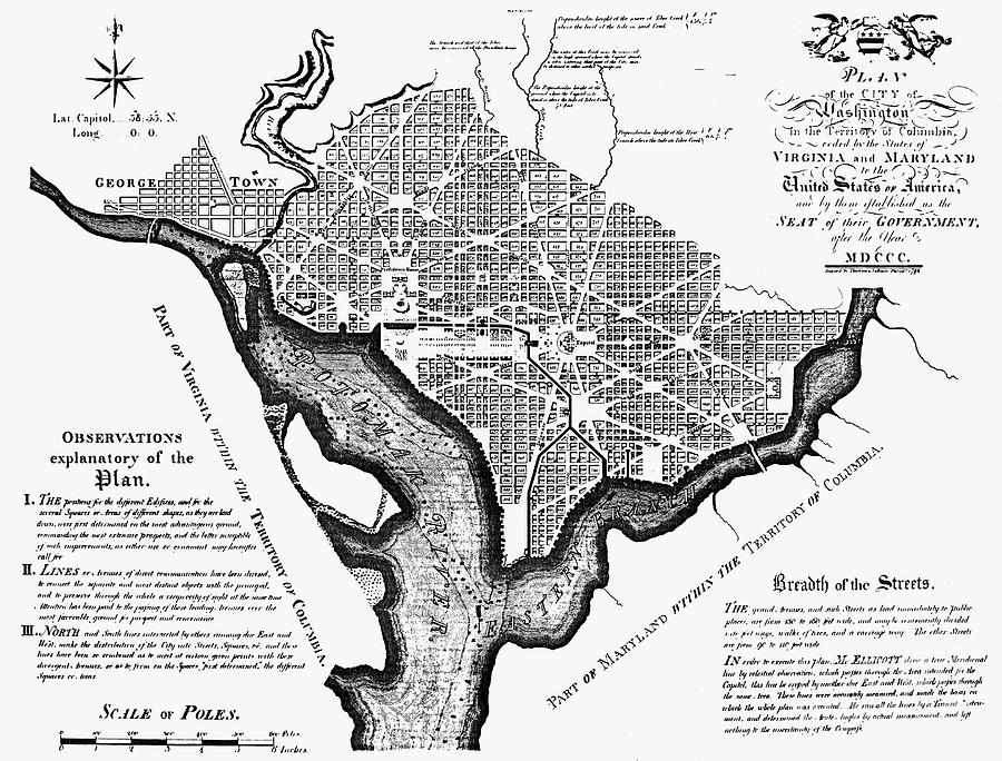 Washington, D.c. Plan, 1792 Photograph