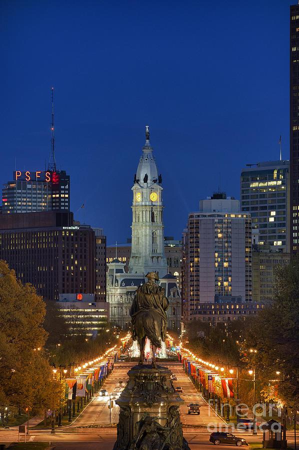 Washington Monument And City Hall Photograph