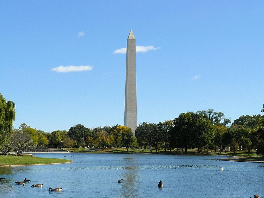 Washington Monument In Summer Photograph