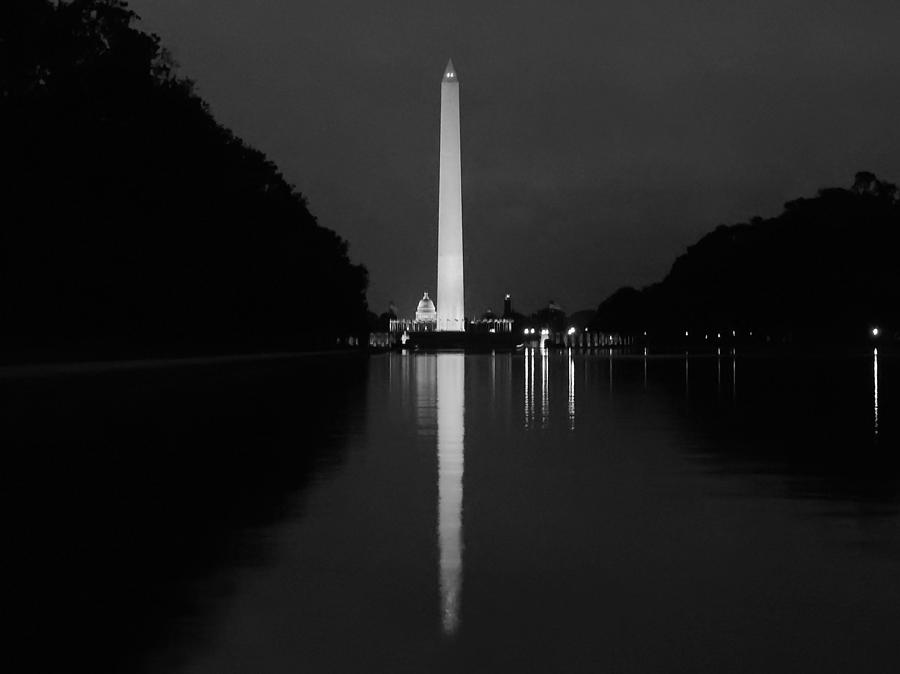 Washington Monument Reflecting Photograph  - Washington Monument Reflecting Fine Art Print