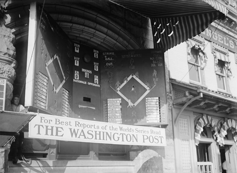 Washington Post Sponsored Scoreboard Photograph  - Washington Post Sponsored Scoreboard Fine Art Print