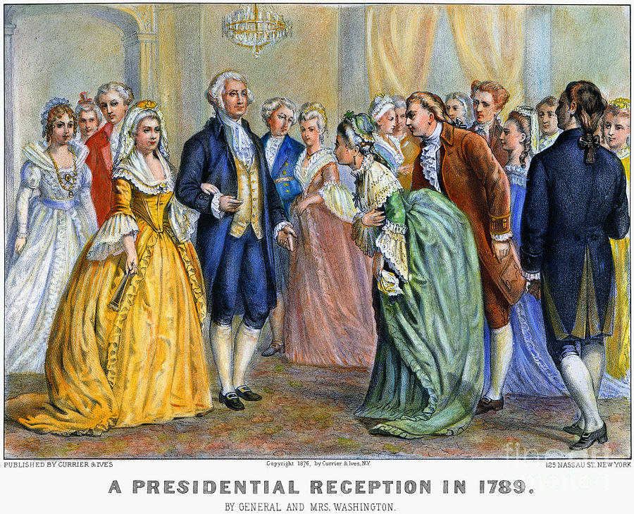 Washington Reception, 1789 Photograph