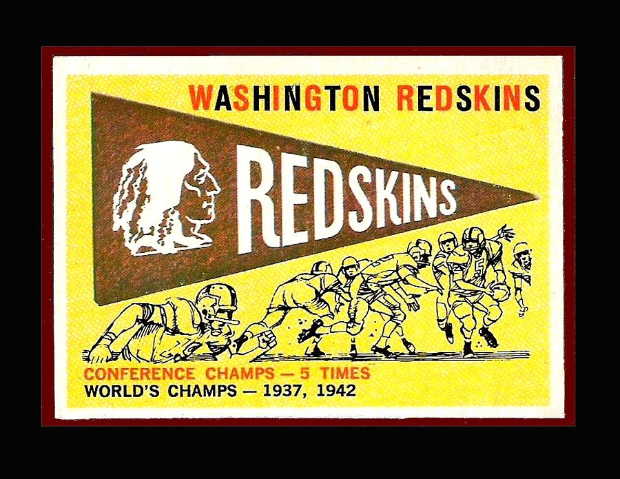 Washington Redskins 1959 Pennant Card Photograph