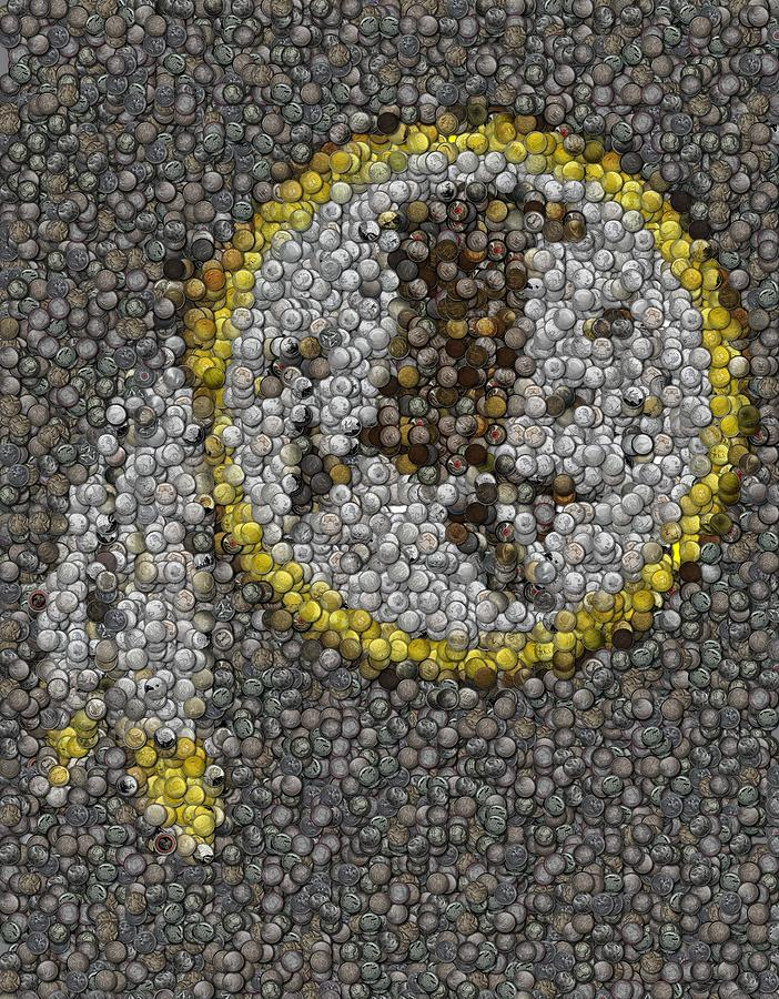 Washington Redskins Coins Mosaic Mixed Media