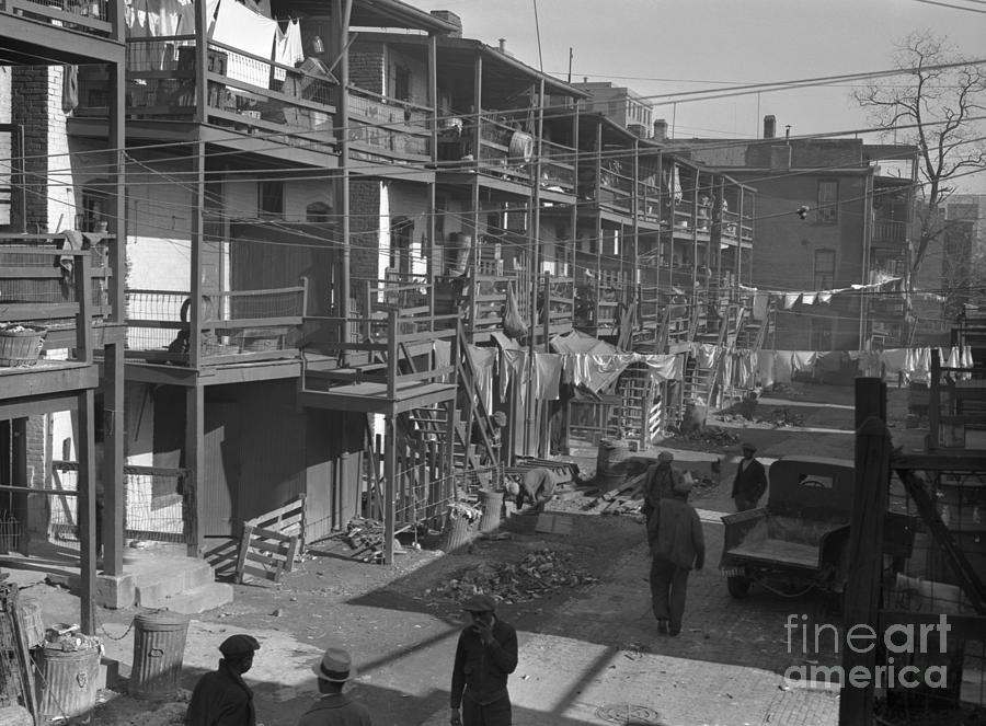 Washington Slum, 1935 Photograph  - Washington Slum, 1935 Fine Art Print