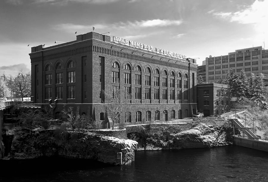 Washington Water Power Post Street Station - Spokane Washington Photograph  - Washington Water Power Post Street Station - Spokane Washington Fine Art Print