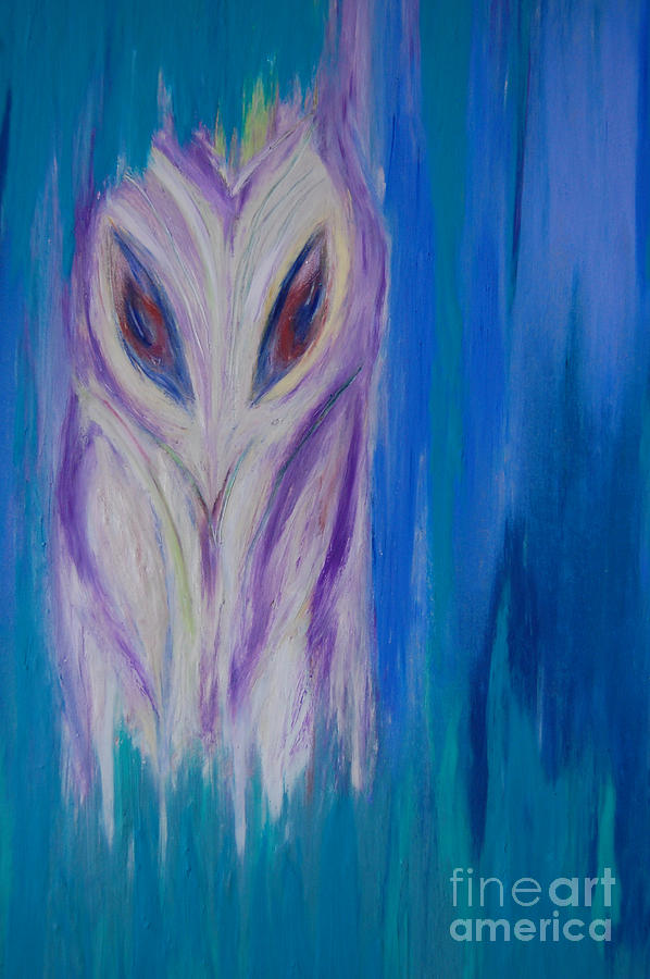 Watcher In The Blue Drawing  - Watcher In The Blue Fine Art Print