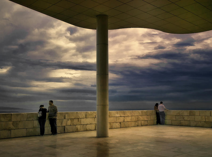 Watching The Storm At The Getty Photograph  - Watching The Storm At The Getty Fine Art Print