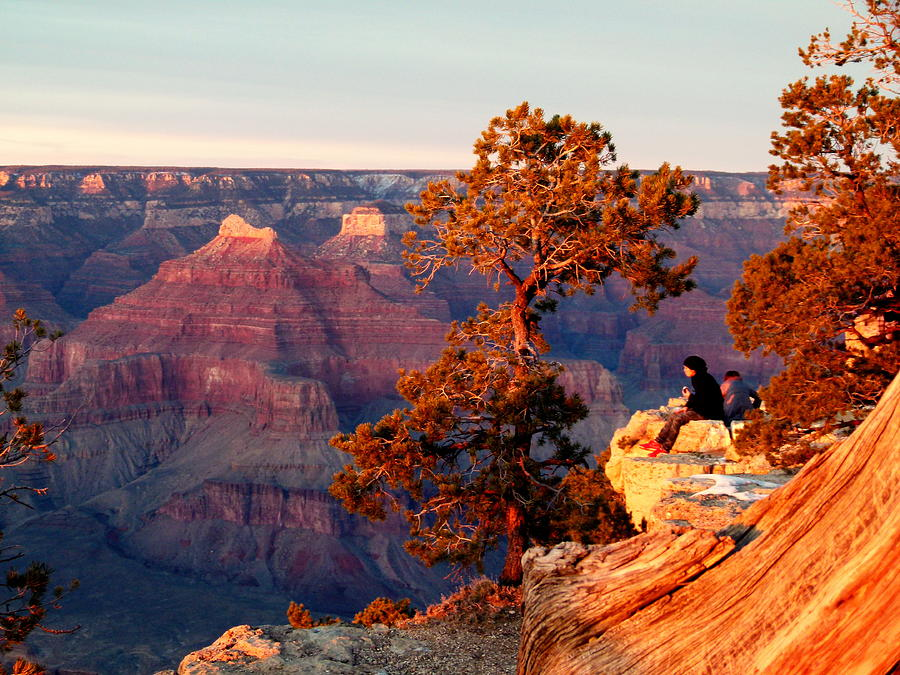 Cindy Wright Photograph - Watching The Sun Set On The Grand Canyon by Cindy Wright