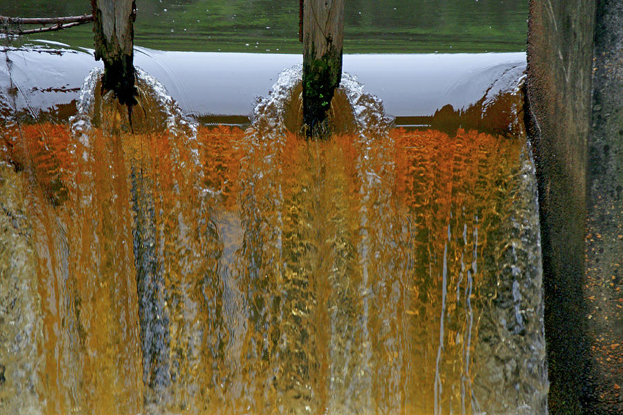 Water Fall At Grismill Pond Photograph  - Water Fall At Grismill Pond Fine Art Print