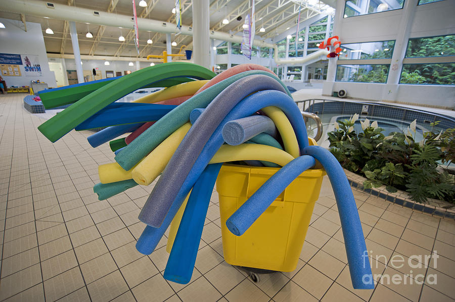 Water Noodles At A Public Swimming Pool Photograph